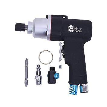 Pistola tipo atornillador de aire comprimido Destornillador de aire comprimido Set de puntas para taladro atornillador para compresor (1/4 pulgadas) de gran ...