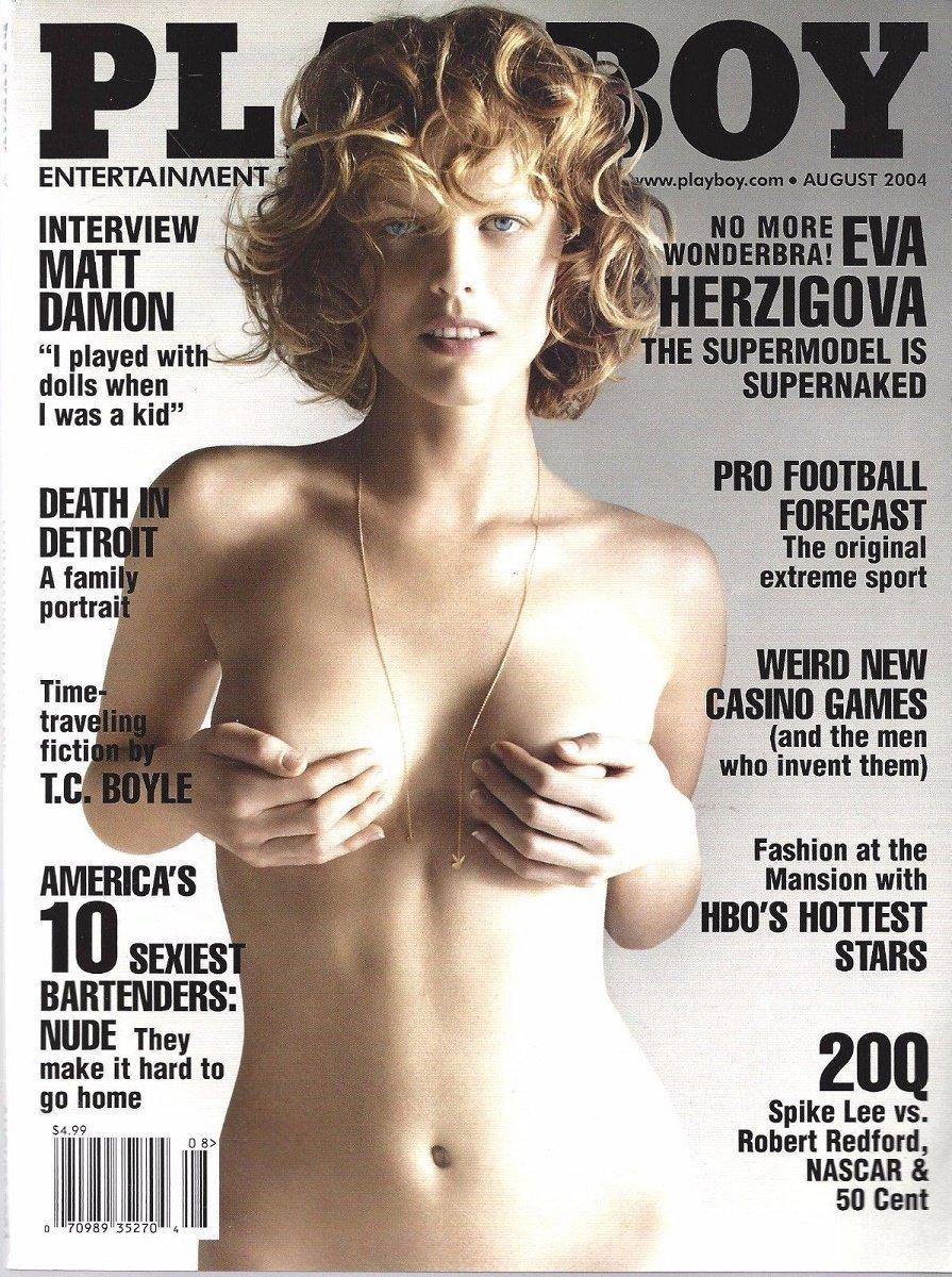 Amazon.com : Playboy Magazine - August 2004 - Eva Herzigova : Everything  Else