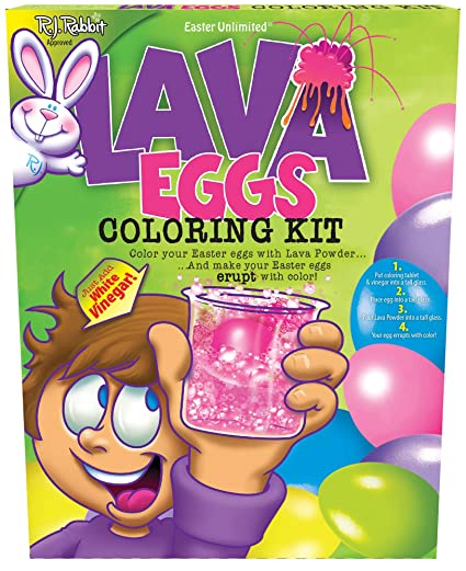 Easter Unlimited Lava Eggs Coloring Kit