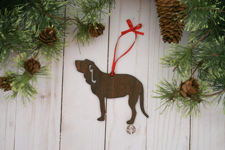 Customizable Bloodhound Christmas Tree Ornament
