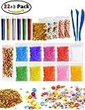 Slime Supplies, MrLi [2018 NEW] 23 PACK Slime Kit Including Foam Beads Confetti and 1000PCS Fruit Slices 6 Bottles Glitter Shake Jars and Slime Tools for Kids DIY Slime Making Kit Arts Decoration