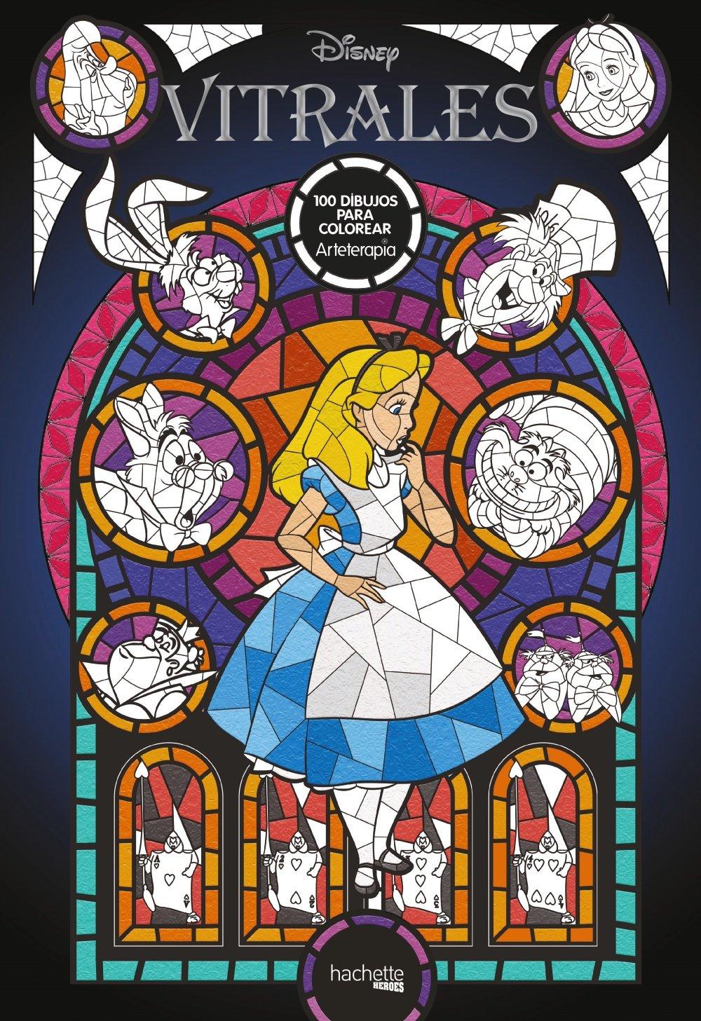 Arteterapia Vitrales Disney Hachette Heroes Disney