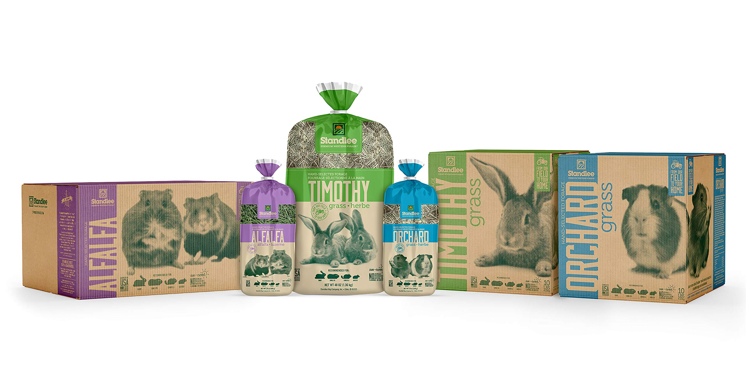 STANDLEE Premium Timothy Grass Hand-Selected Forage, 10lb Box by Standlee Hay Company (Image #2)