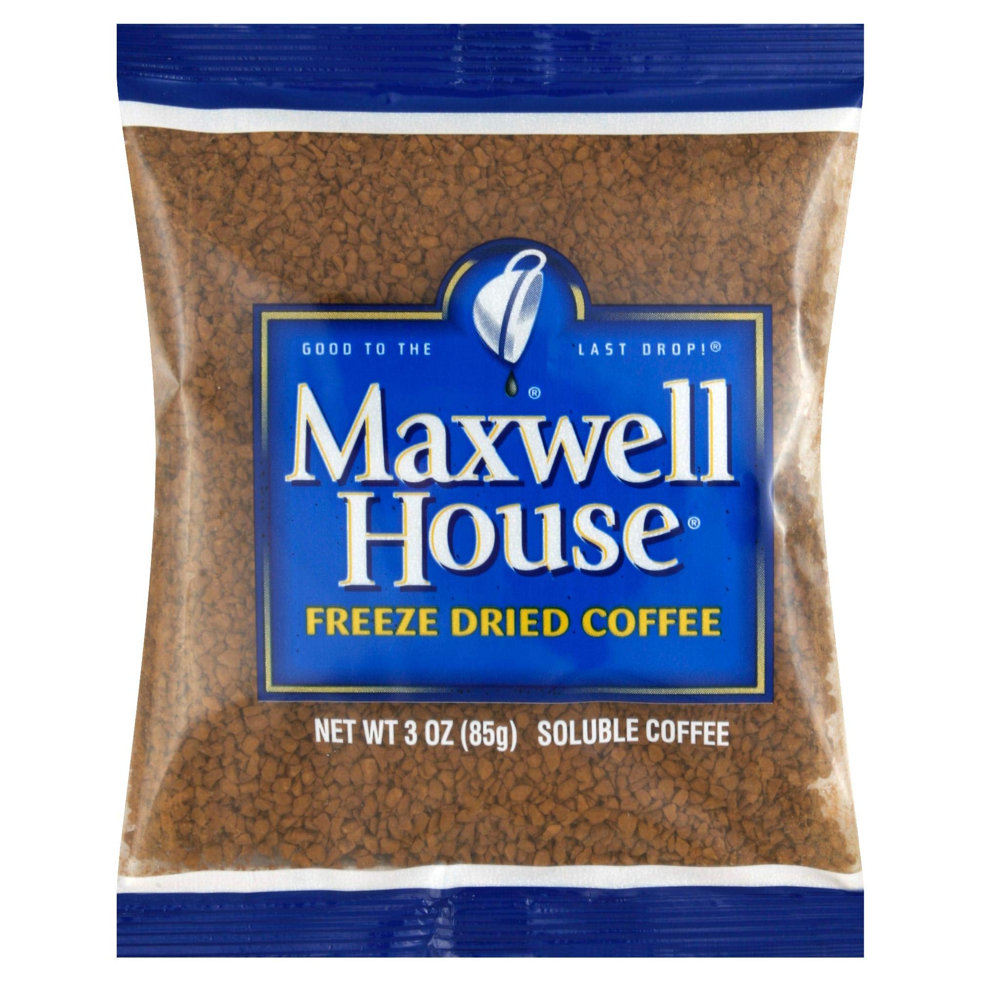 Maxwell House Freeze Dried Instant Coffee (3 oz Bags, Pack of 32)