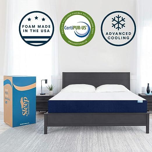 Amazon Com Sleep Innovations Marley 10 Inch Cooling Gel Memory