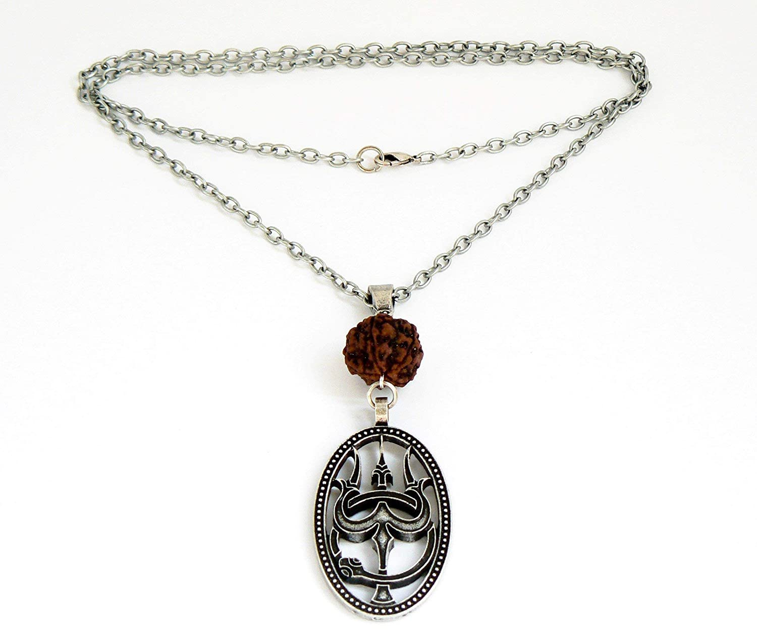Shiva Trident necklace Hindu symbol Lord Shiva necklace Tribal Bohemian statement necklace Long layering necklace by Inali