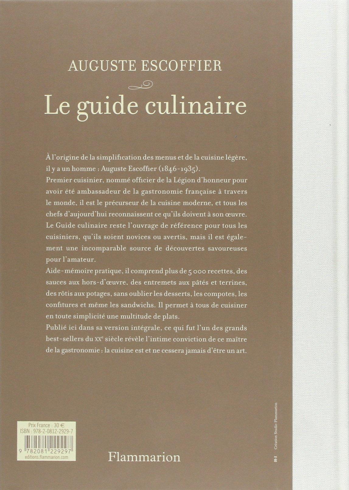 escoffier le guide culinaire aide memoire de cuisine pratique rh amazon com escoffier le guide culinaire pdf download escoffier le guide culinaire flammarion