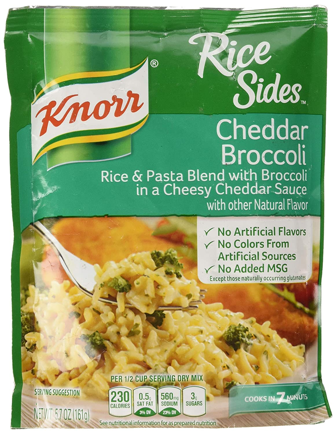 Knorr Rice Side Dish, Cheddar Broccoli, 5.7 Ounce - Pack of 4