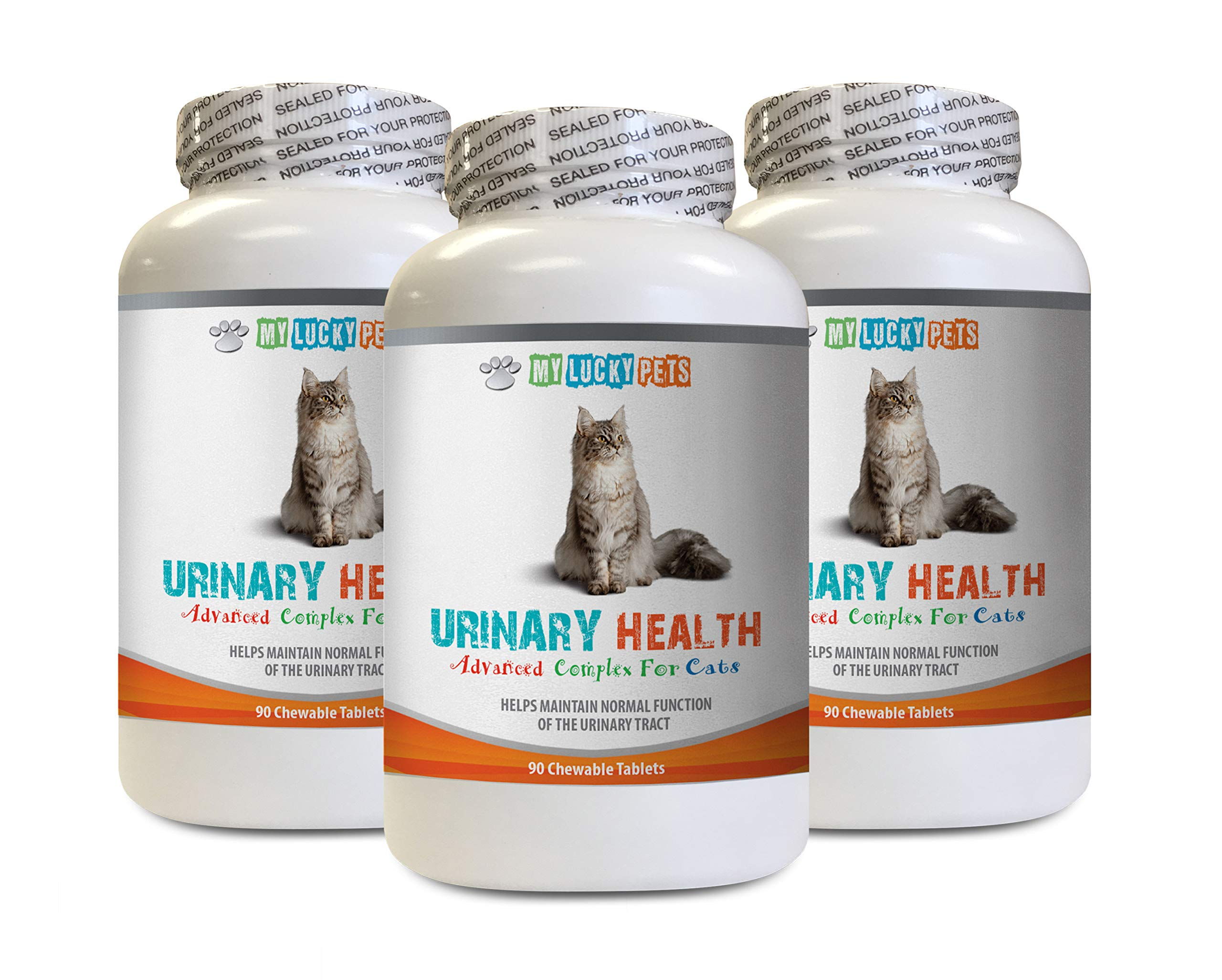 MY LUCKY PETS LLC cat UTI Support - CAT Urinary Health Formula - Support Bladder Health - Natural Complex - Cranberry Bites for Cats - 3 Bottle (270 Treats) by MY LUCKY PETS LLC