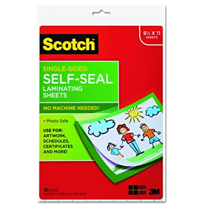 Review Scotch Single-Sided Laminating Sheets,