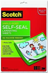Scotch LS854SS10 Self-Sealing Laminating Sheets, 6.0 mil, 8 1/2 x 11 (Pack of 10)