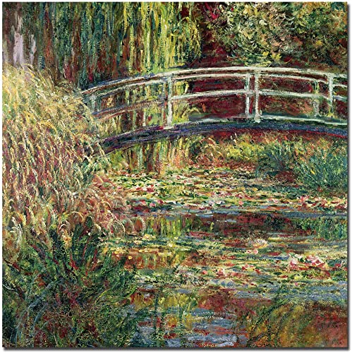 Water-Lily Pond Pink Harmony, 1900 by Claude Monet, 14×14-Inch Canvas Wall Art