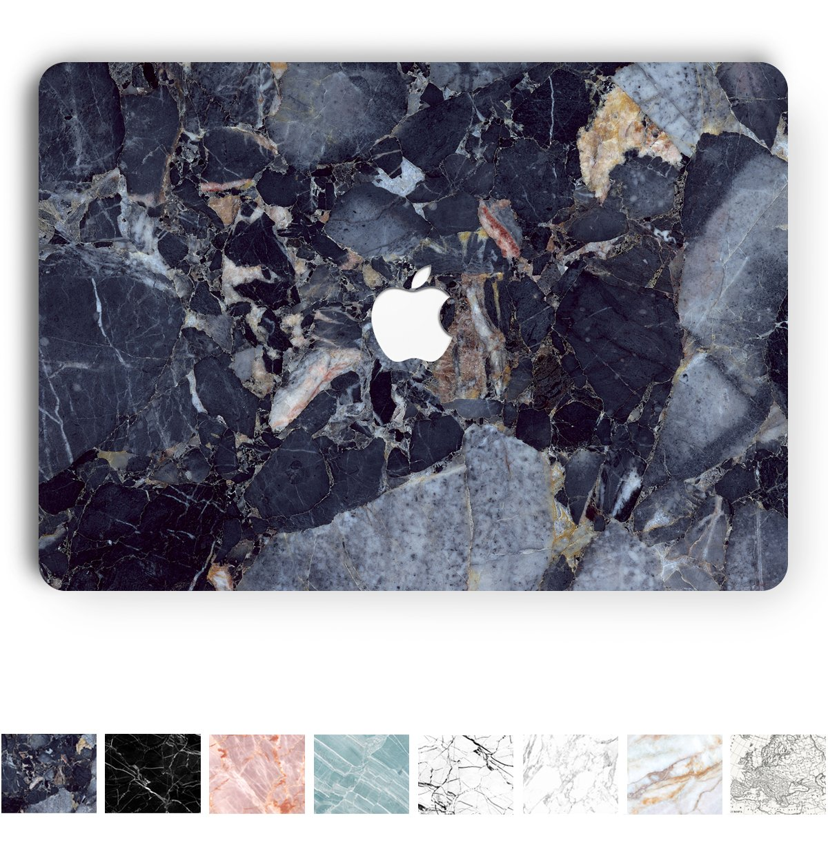 Koru Premium Royal Blue Marble Vinyl Decal Skin Sticker Case Cover for MacBook Pro 13 inch Retina Without CD Drive (Models A1425 and A1502)