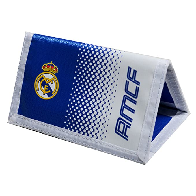 Real Madrid CF Official - Cartera con escudo y colores en degradado (Talla Única/