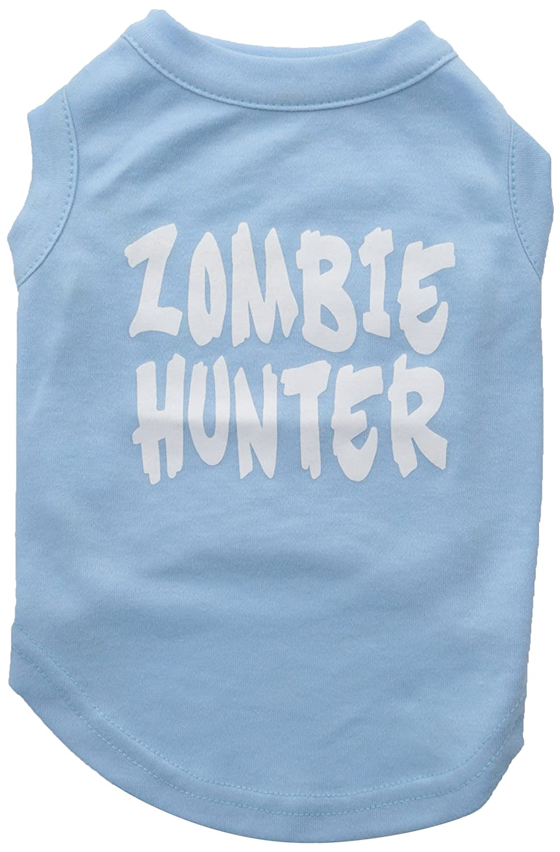 Dog   Cat   Pet Charms Zombie Hunter Screen Print Shirt Baby bluee M (12)