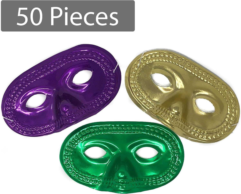 Masquerade Mardi Gras Half Masks 1 Dozen Mardi Gras Half Masks 12 Pack