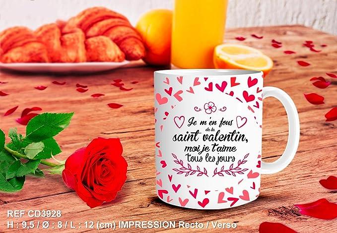 Mug Valentin JoursCuisineamp; Maison Tous Les T'aime Saint Je VqUSMzp