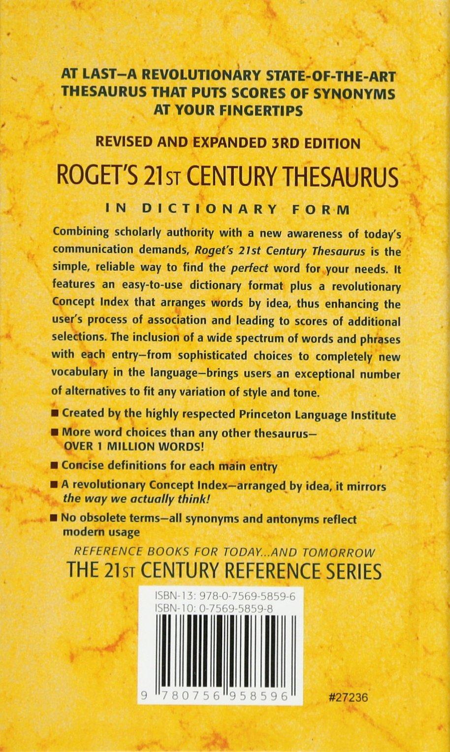 Rogets 21st century thesaurus 21st century reference pb rogets 21st century thesaurus 21st century reference pb barbara ann kipfer phd 9780756958596 amazon books m4hsunfo
