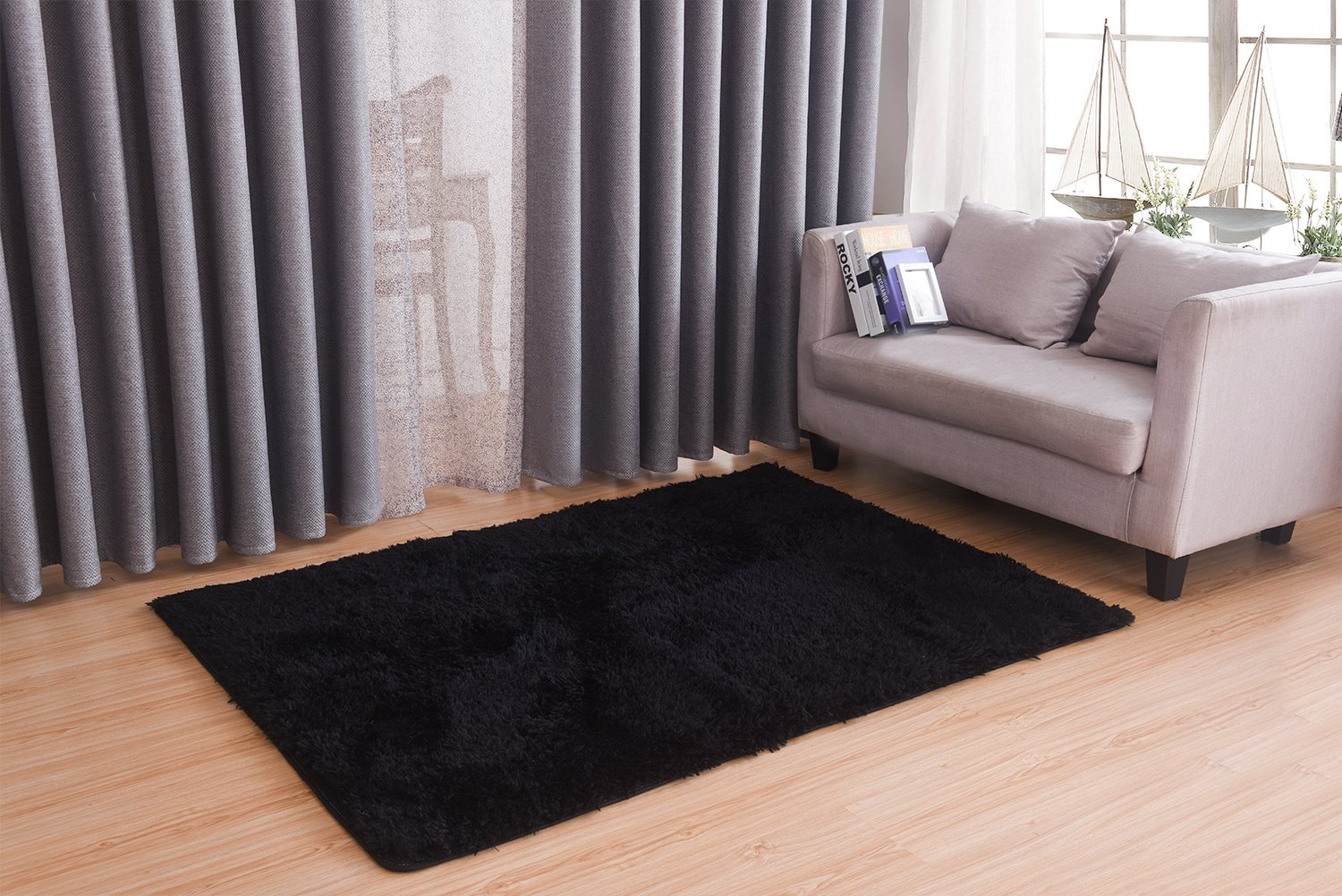 Amazon Living Room Bedroom Rugs MBIGM Ultra Soft Modern Area Thick Shaggy Play Nursery Rug With Non Slip Carpet Pad For 4
