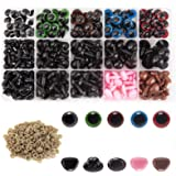 AIEX 560pcs Colorful Plastic Safety Eyes and Noses, Includes 170pcs Plastic Safety Eye and 110pcs Safety Nose with…