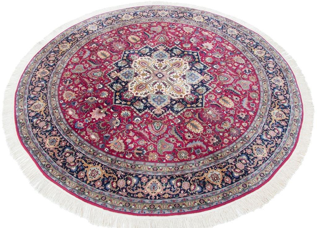 Carpetfine: Alfombra China Isfahan - 270x270 cm - Azul,Rojo - Anudada a mano - China