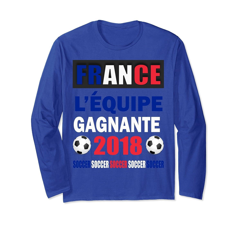 ad7074c4d ... Croatian Flag Hrvatska Soccer Jersey Style-ln. Soccer-France  Gagnante-Winners-2018-France Flag T-Shirt Gift