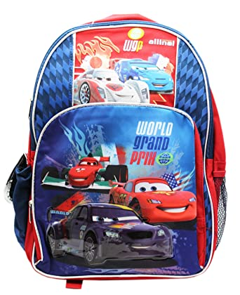 340de16ec7b Image Unavailable. Image not available for. Color  Disney Pixar s Cars 2  WGP Lightning McQueen Full Size Backpack ...