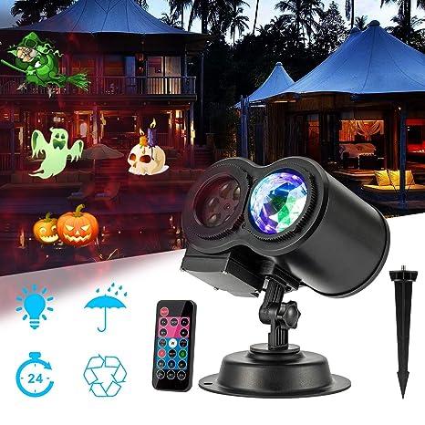 Luces de proyector de Navidad de Halloween, luces de paisaje ...