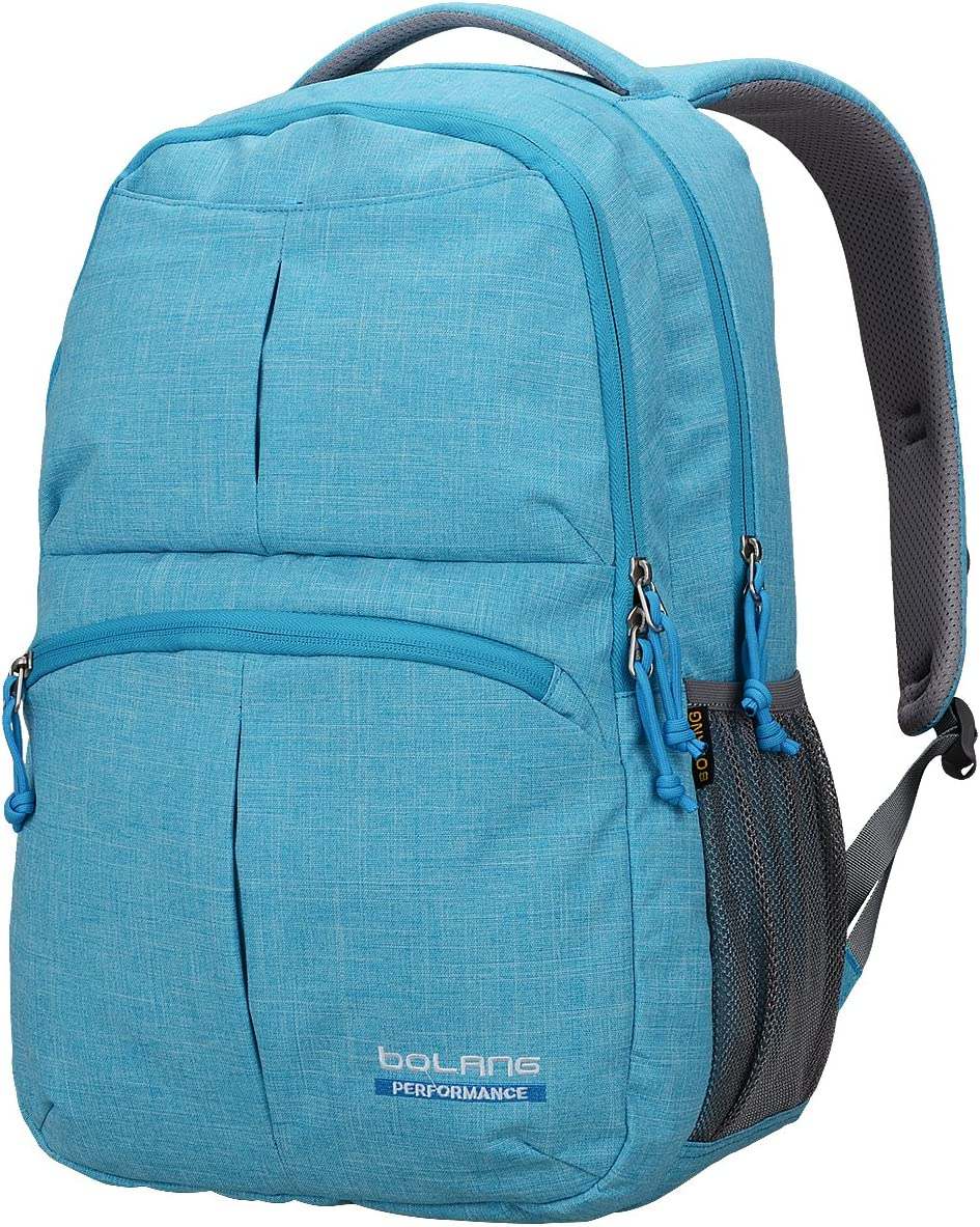 BOLANG College Backpack for Men Water Resistant Travel Backpack Women Laptop Backpacks Fits 16 inch Laptop Notebook 8459 (Blue)