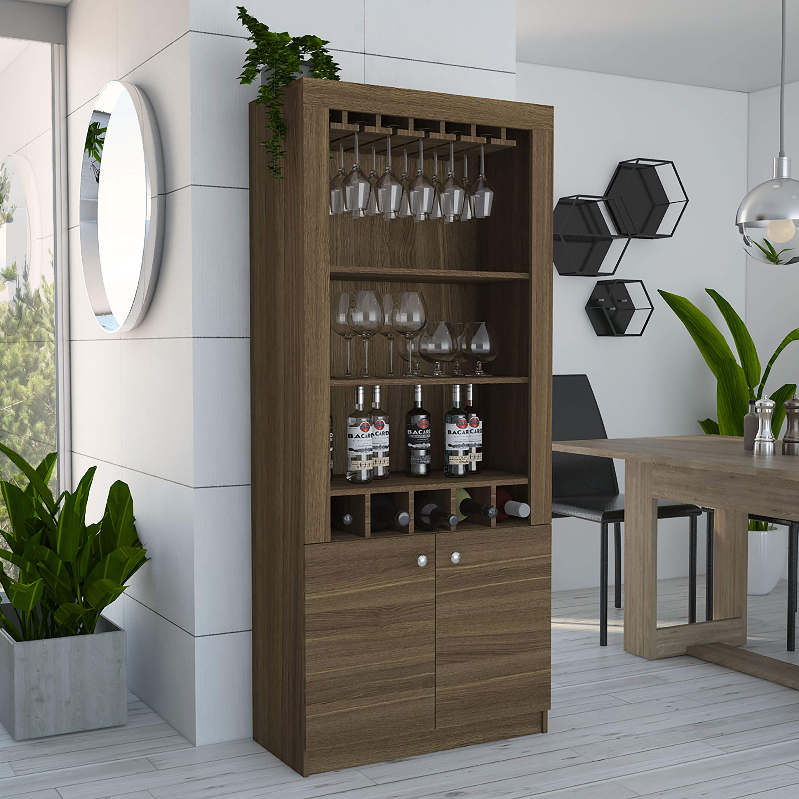 TUHOME Montenegro Bar Cabinet (Amareto) by TUHOME