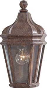 Minka Lavery Minka 8697-61 Traditional One Light Pocket Lantern from Harrison Collection in Bronze/Darkfinish 1 Outdoor, Upc-747396001272, See Image