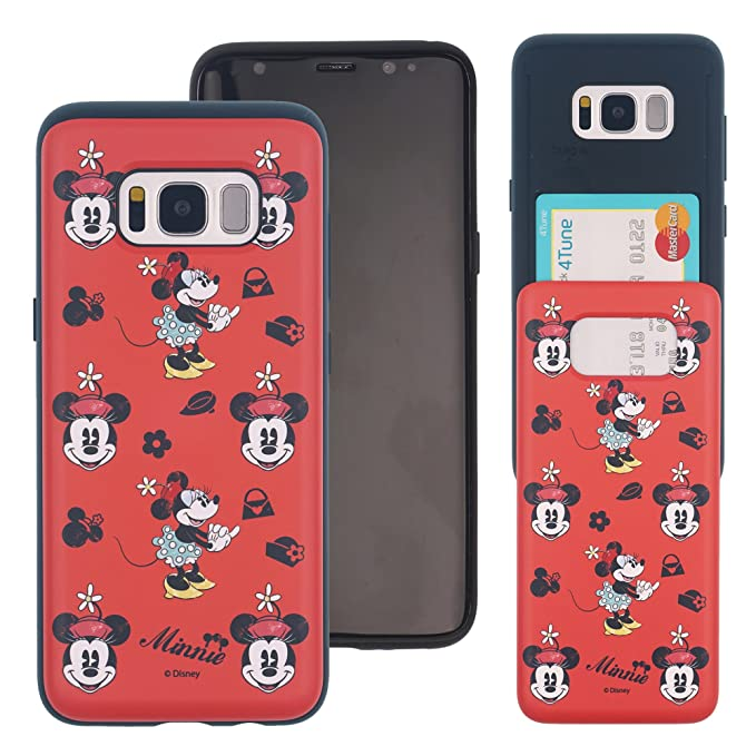 the latest c1664 2f4aa Galaxy S8 Plus Case Disney Cute Slim Slider Cover : Card Slot Shock  Absorption Shockproof Dual Layer Protective Holder Heavy Duty Bumper for [  Samsung ...