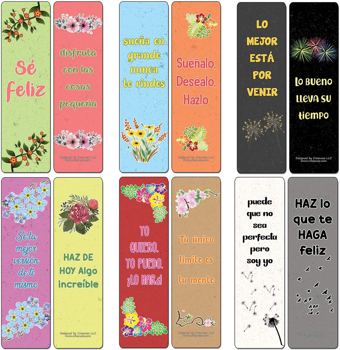 Corporate Giveaways /& Party Favors Teens Adults - Stocking Stuffers Premium Quality Gifts for Children Classroom Rewards /& Incentives 30-Pack Creanoso Power Thoughts Cards