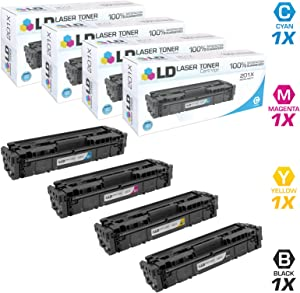 LD Compatible Toner Cartridge Replacement for HP 201X High Yield (Black, Cyan, Magenta, Yellow, 4-Pack)