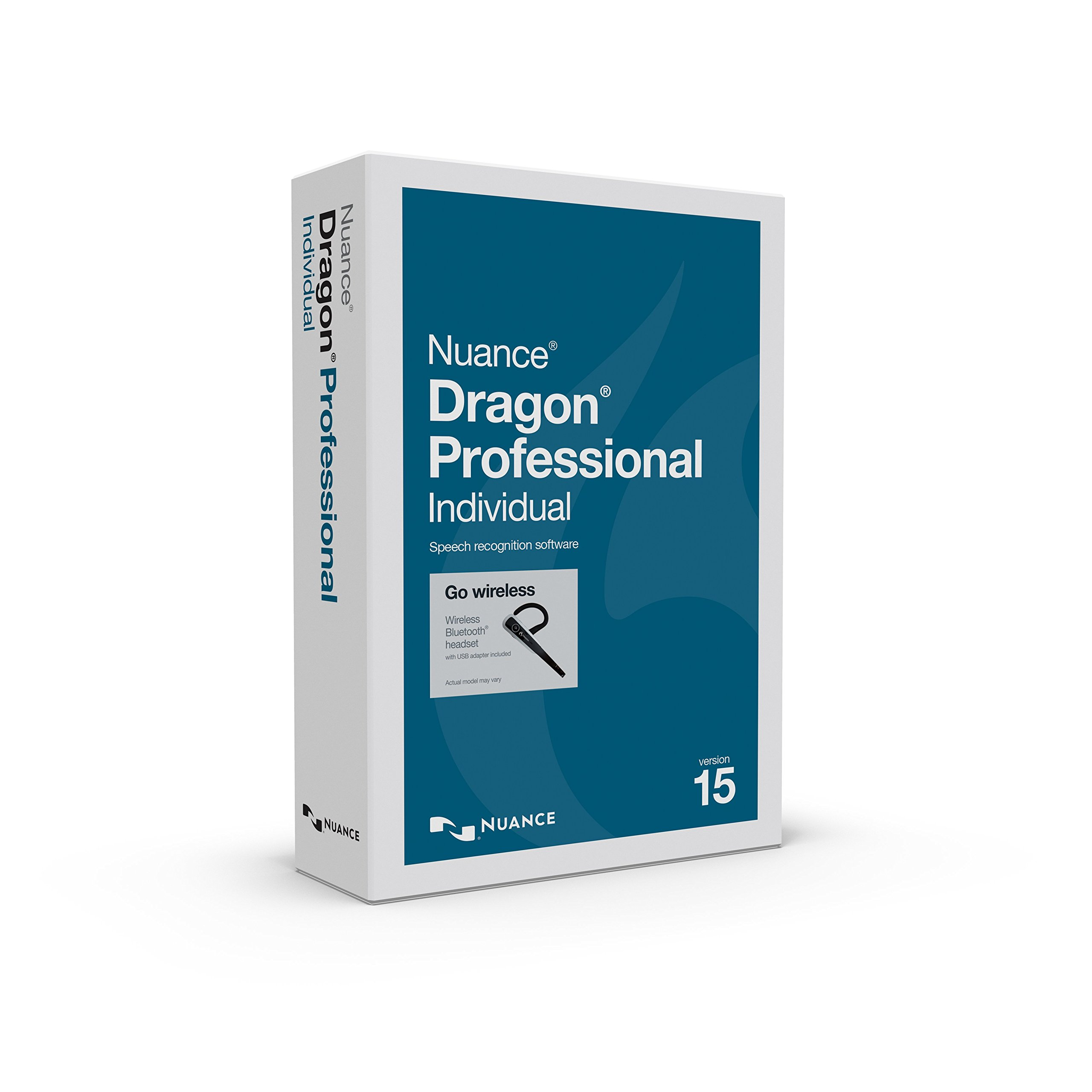 Dragon Professional Individual 15 with Bluetooth Headset by Nuance Dragon