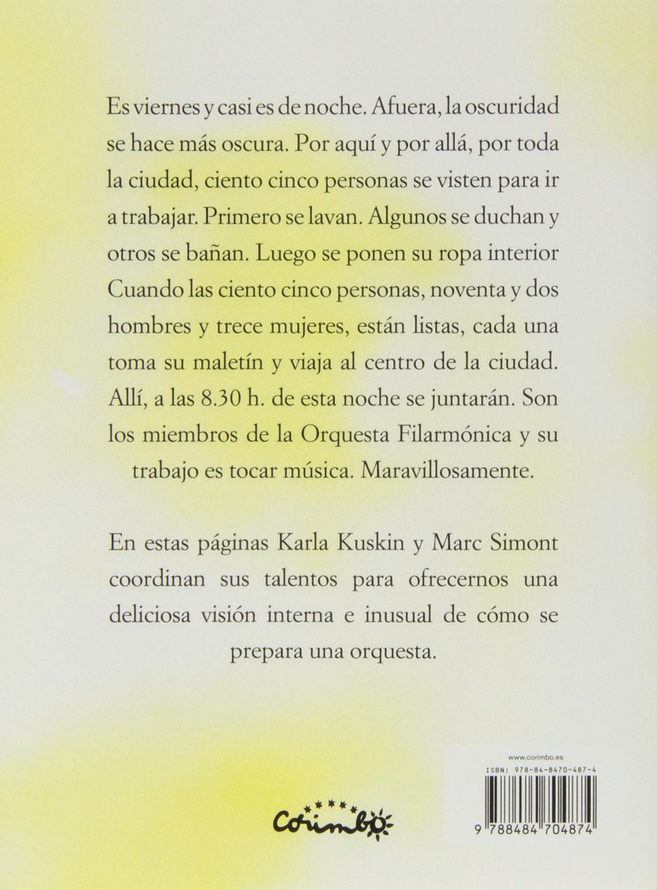 La filarmónica se viste (Spanish Edition): Karla Kuskin, Corimbo, Marc Simont: 9788484704874: Amazon.com: Books