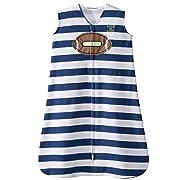 Halo Football Navy Blue Stripe Sleepsack Wearable Baby Blanket, Small