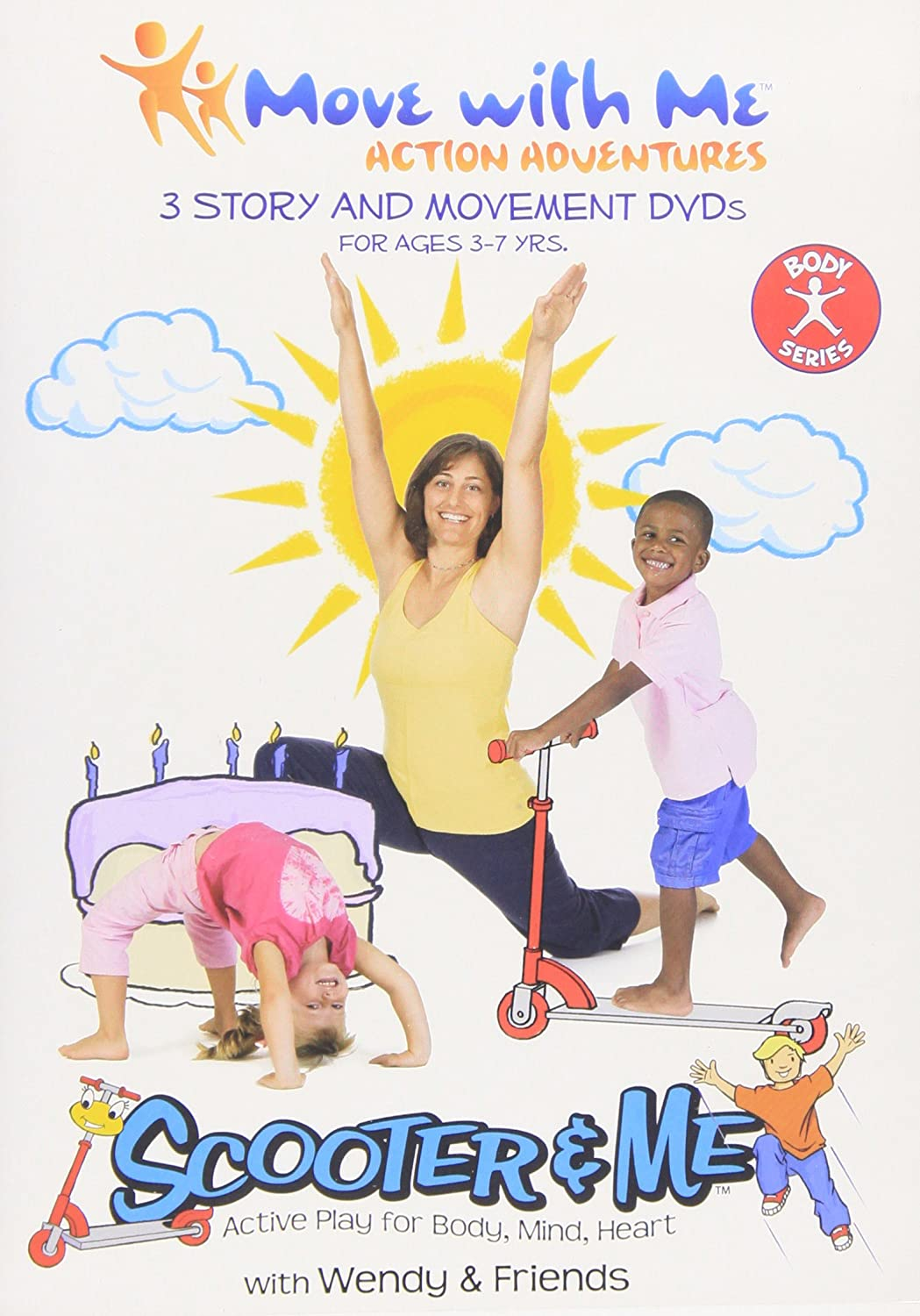 Amazon.com: Kids Yoga DVDs – Scooter & Me Body Series (Set ...