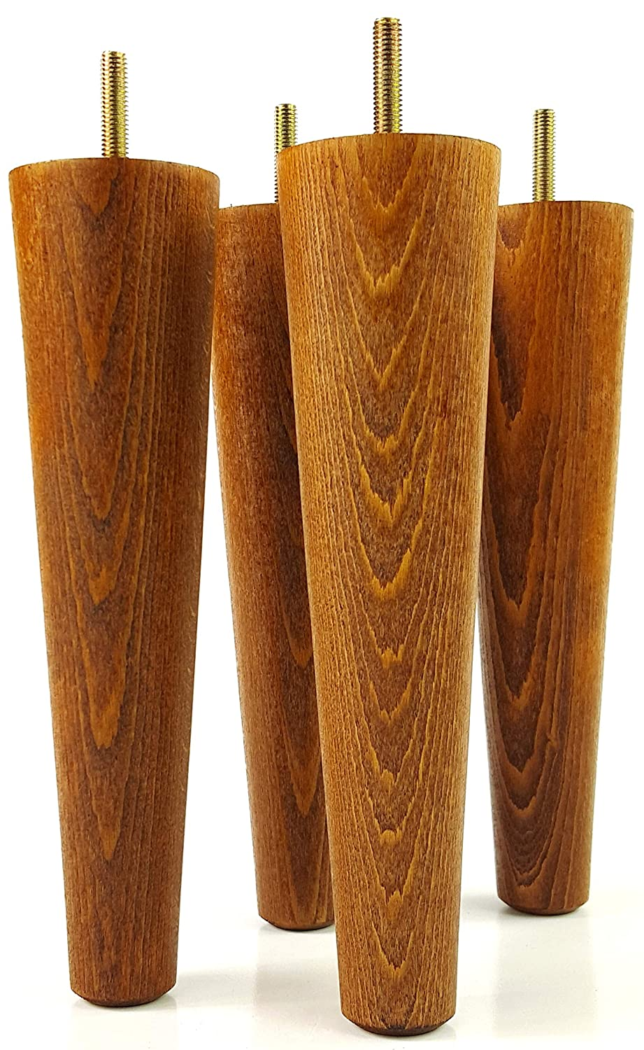 Wooden Furniture FEET Replacement Legs for Sofas, Chairs, SETTEES, 220mm HIGH - Set of 4 - M8(8mm) - PKC2117H KNIGHTSBRANDNU2U