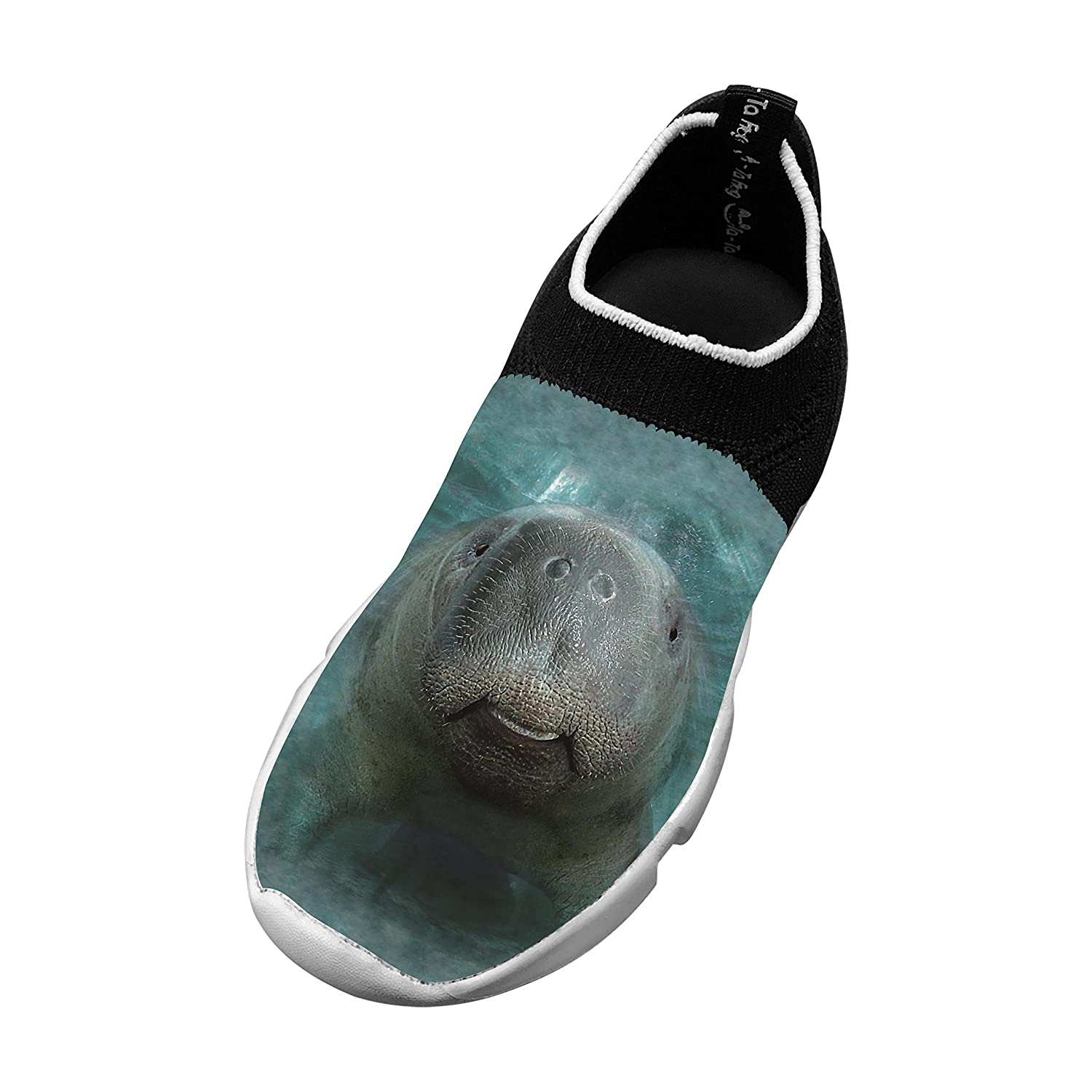 New Trendy Flywire Knitting Leisure Shoes 3D Create My Own With Big Face Manatee For Boy Girl