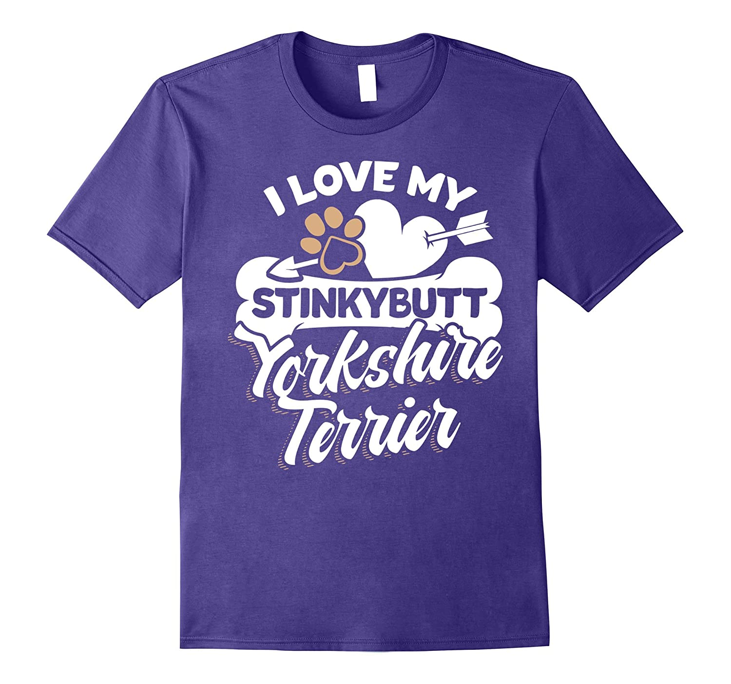 Yorkshire Terrier T-Shirt - I Love My Stinkybutt Dog-TH