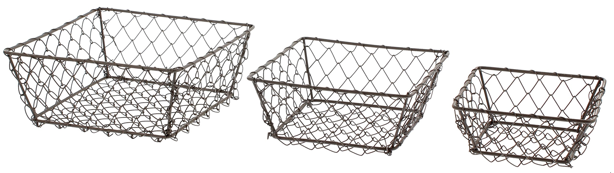 Park Hill Set Of 3 Square Wire Berry Baskets by Park Hill (Image #1)
