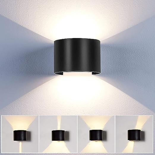 Applique Mural Interieur Exterieur Led Lampe Murale Moderne Etanche Ip65 Reglable Lampe Up And Down Design Pour Couloir Escalier Salle