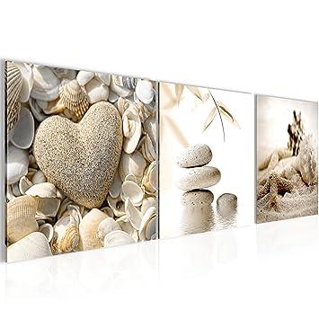 Bilder Feng Shui Muscheln Wandbild Vlies - Leinwand Bild XXL Format ...