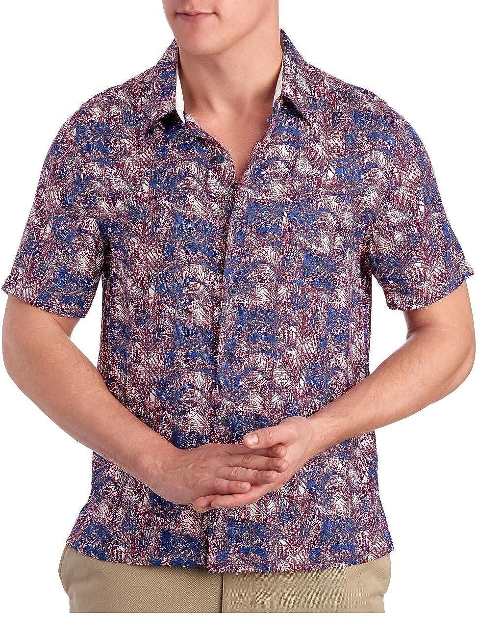e9e21d88a4798 Nat Nast Men's Short Sleeve Palm Print Silk Camp Shirt at Amazon Men's  Clothing store: