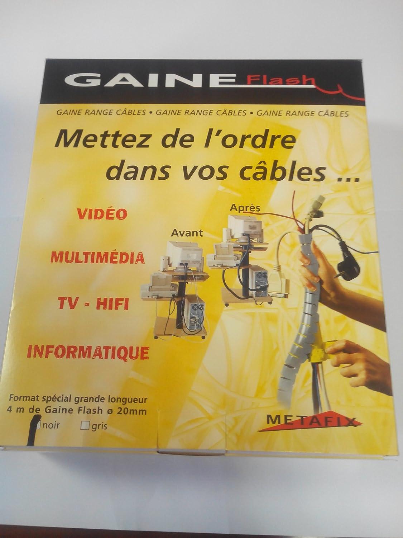 Longueur: 1,5 m Gaine Flash Diam/ètre 15 mm Gaine Range C/âbles Gaine Flash Couleur: Translucide