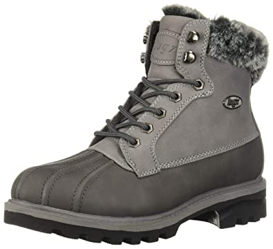 47bd3242b0adad Lugz Women s Mallard Fur Fashion Boot Charcoal Medium Grey Black 5.5 ...