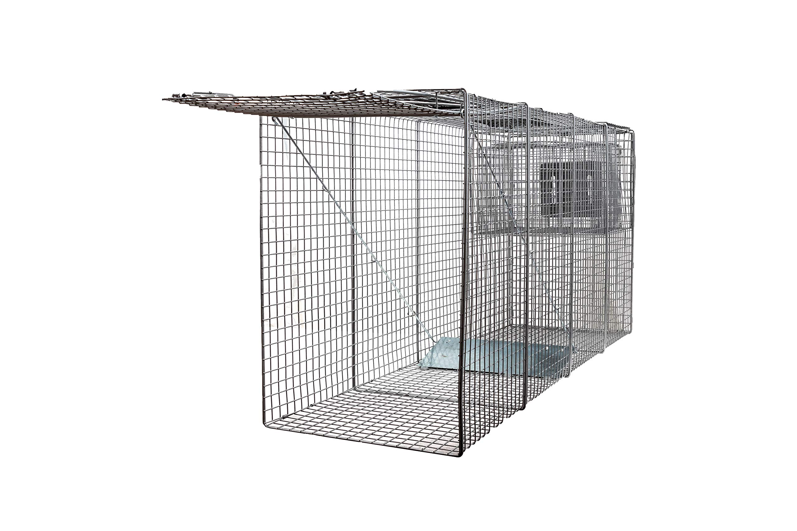 X-Large One Door Catch Release Heavy Duty Cage Live Animal Trap for Large Dogs, Foxes, Coyotes and Other Similar Sized Animals, 58''x26''x17''