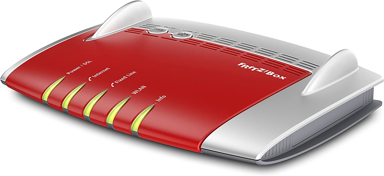 AVM FRITZ!Box 7490 International - Modem Router WiFi AC 1750, banda dual, Mesh, VDSL, ADSL2+, 4 x LAN Gigabit, 2 puertos USB 3.0, centralita telefónica, VoIP, base DECT, interfaz en Español