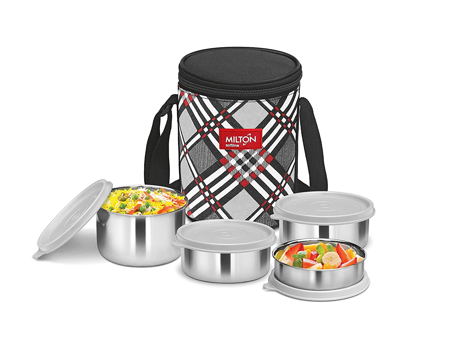 Milton Smart Meal Lunch Box, Set Of 4, Grey